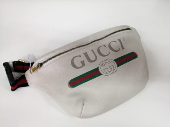 outlet store 45935 36fb2 グッチ(GUCCI)/493869 0GCCT 8822 レザー ベルトバッグ 白を買取 ...